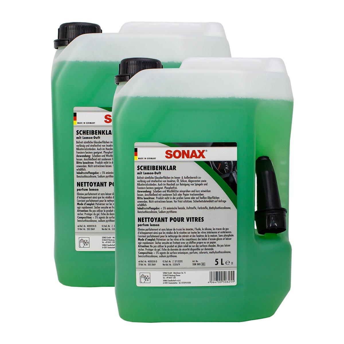 SONAX 2X 03385050 Scheibenreiniger ScheibenKlar 5L