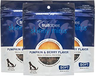 product image for Fruitables Skinny Minis Gluten Free Chewy Dog Treats Pumpkin & Berry Flavor (3 Pack) 5 oz Each