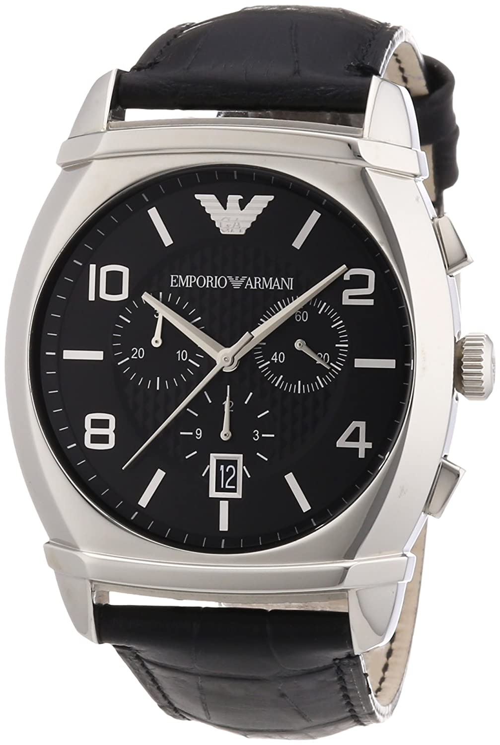 Amazon.com: Emporio Armani Mens AR0347 Classic Black Chronograph Dial Watch: Emporio Armani AR0347: Watches