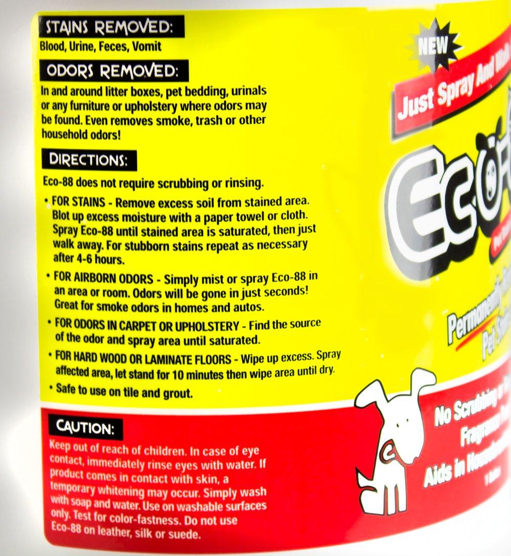 amazon com eco 88 pet stain u0026 odor remover 1 gallon pet supplies
