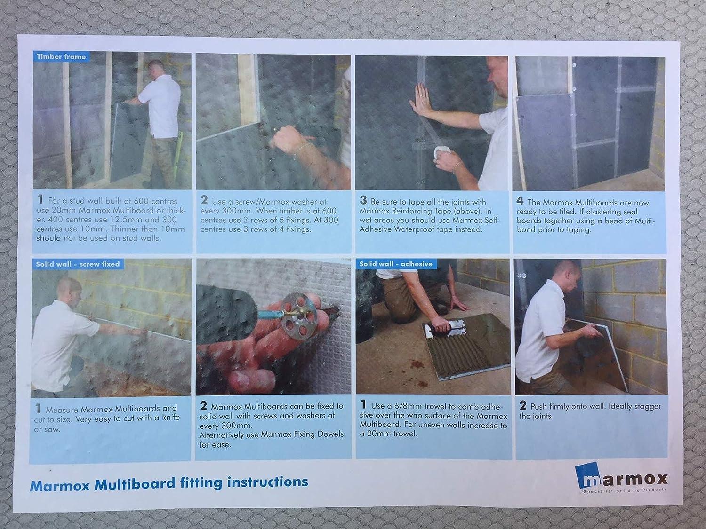 Tile Backer Boards 8.4m2 Marmox Wedi Type Cement Coated Insulation Underfloor Heating 6mm
