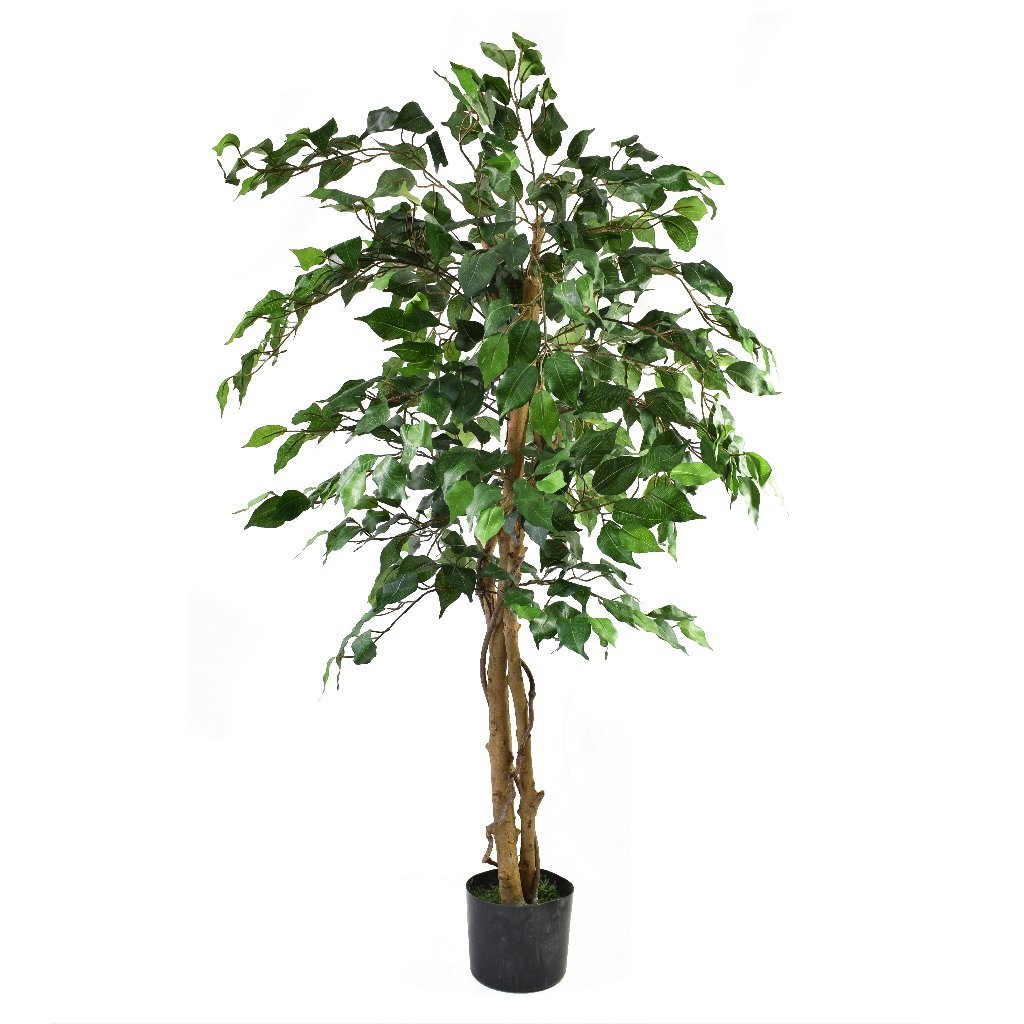 1. Green Ficus Tree 4ft - Artificial Tree Olore Home