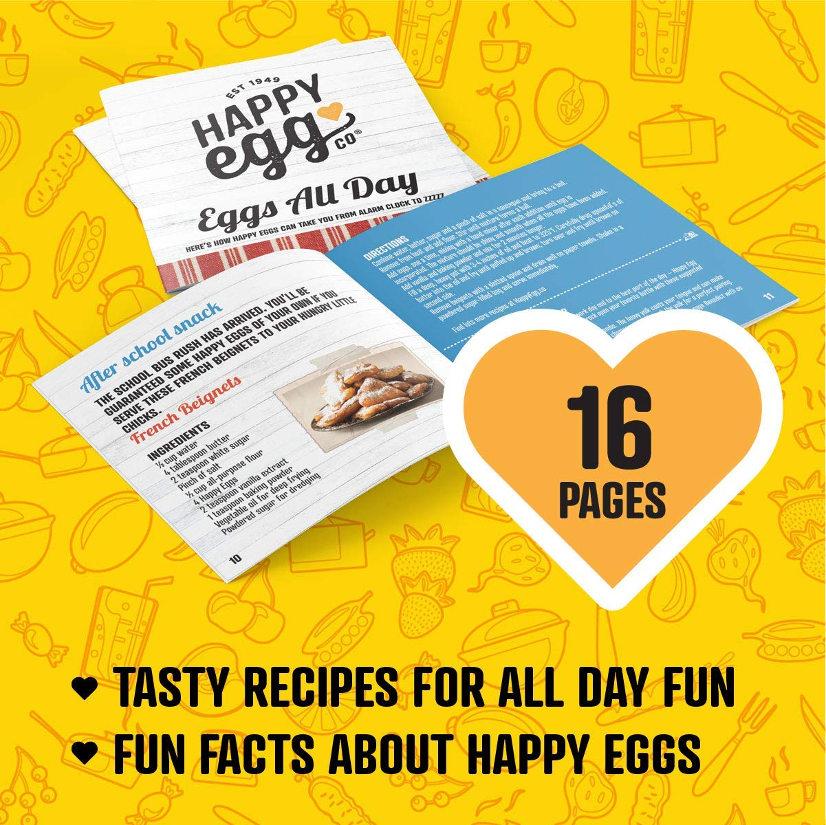 Happy Egg Pan by Choosy Chef - Nonstick 4-Cup Frying Pan, Spatula & Happy Egg Recipe Book Included by Choosy Chef (Image #3)