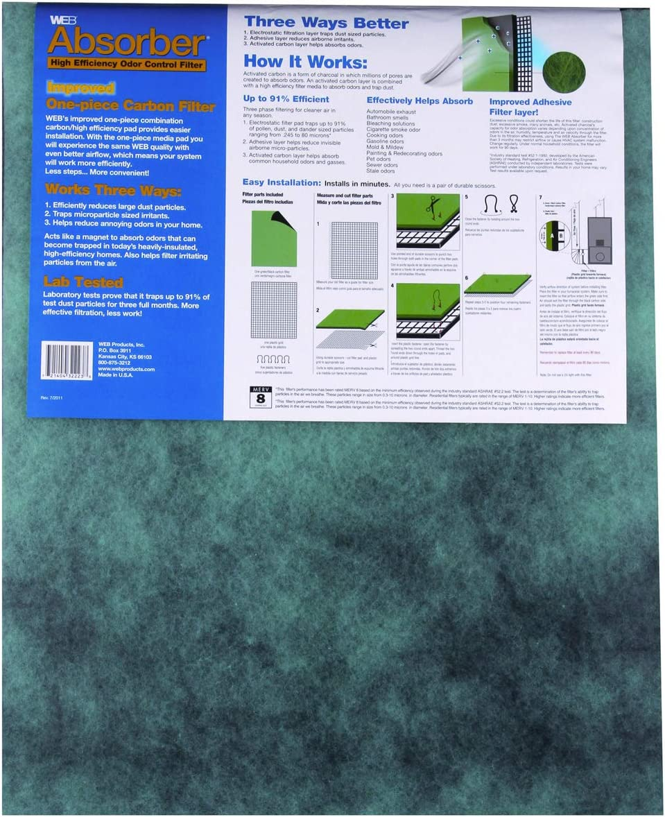 Web Products Wabsorb Absorber High Efficiency Odor Control Filter