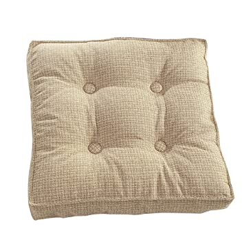 Genial Square Chair Pad Minimalism Style Solid Color Flax Seat Cushion Throw  Pillow 15.74 X 15.74 Inch