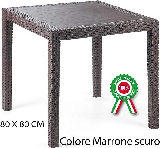 king mesa mesa de duración, de resina artificial rattan mimbre casa bar marrón oscuro: Amazon.es: Jardín