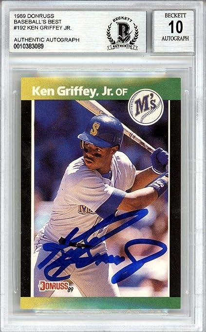 Ken Griffey Jr Autographed 1989 Donruss Baseballs Best