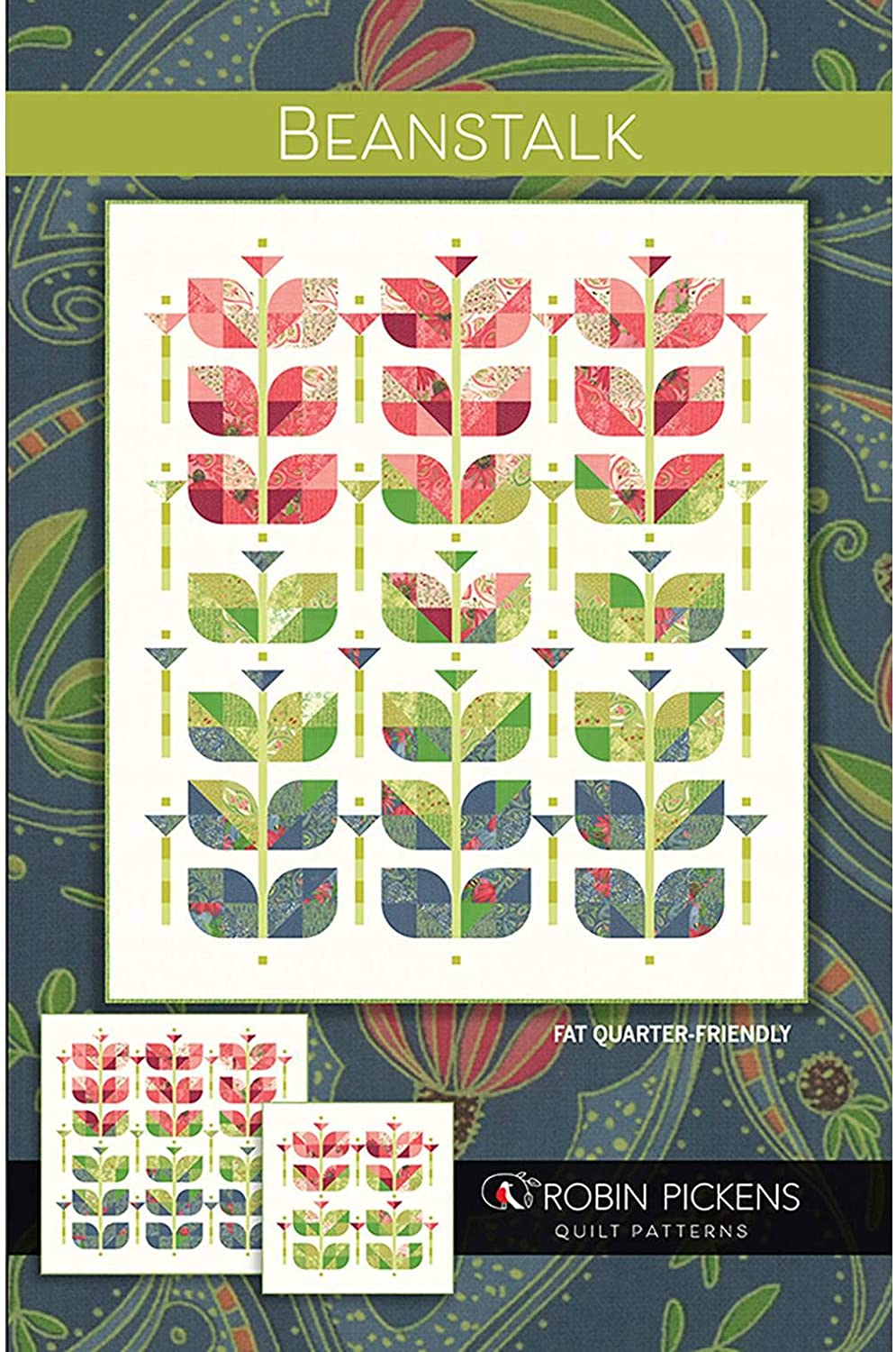 Beanstalk Quilt Pattern by Robin Pickens RPQPB125