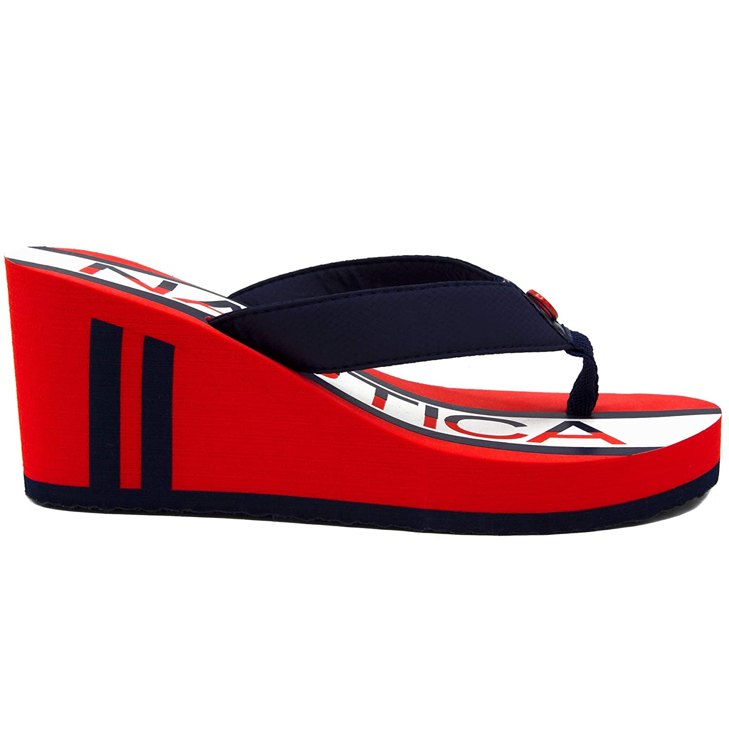 d3693157216c8 Nautica Women's Tedori Wedge Flip Flop, High Fashion Beach Sandal, Thong  Style Slide