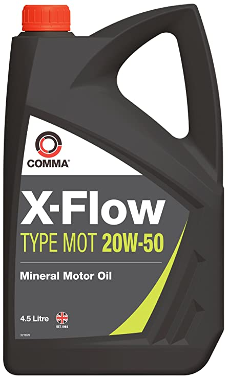 Comma Aceite para Motor XFMOT1G X-Flow Tipo Mot 20W50, 4,5 litros ...