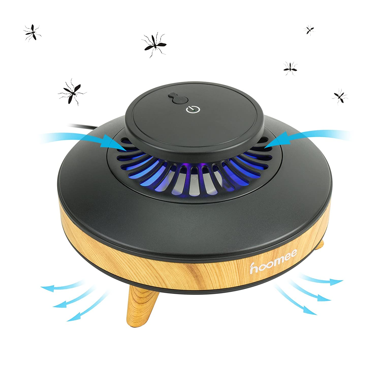HOOMEE Trampa de Luz Inteligente para Mosquitos Ecológica, eficiente, ahorradora de energía y Libre de contaminación. Sensor de luz y 3 velocidades - ...