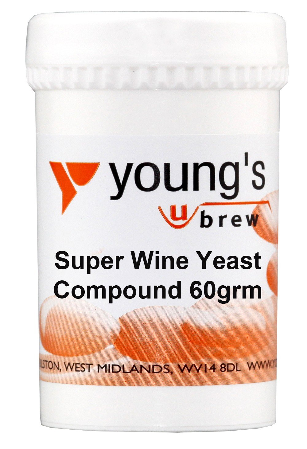 Youngs Brew Inicio Brewing Súper Wine Yeast Compuesto por 60 g de alcohol de alta