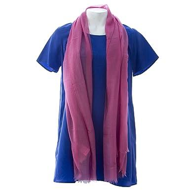 f9ac4c0ae Marina Rinaldi Women's Soffio Sheer Cashmere Scarf Pink at Amazon ...