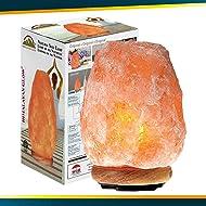 Himalayan Glow Natural Himalayan Salt Lamp, Crystal Salt Lamps,Air Purifier, Real Wood Base  with Dimmer Switch, Gift Lamp | 7-11 LBS