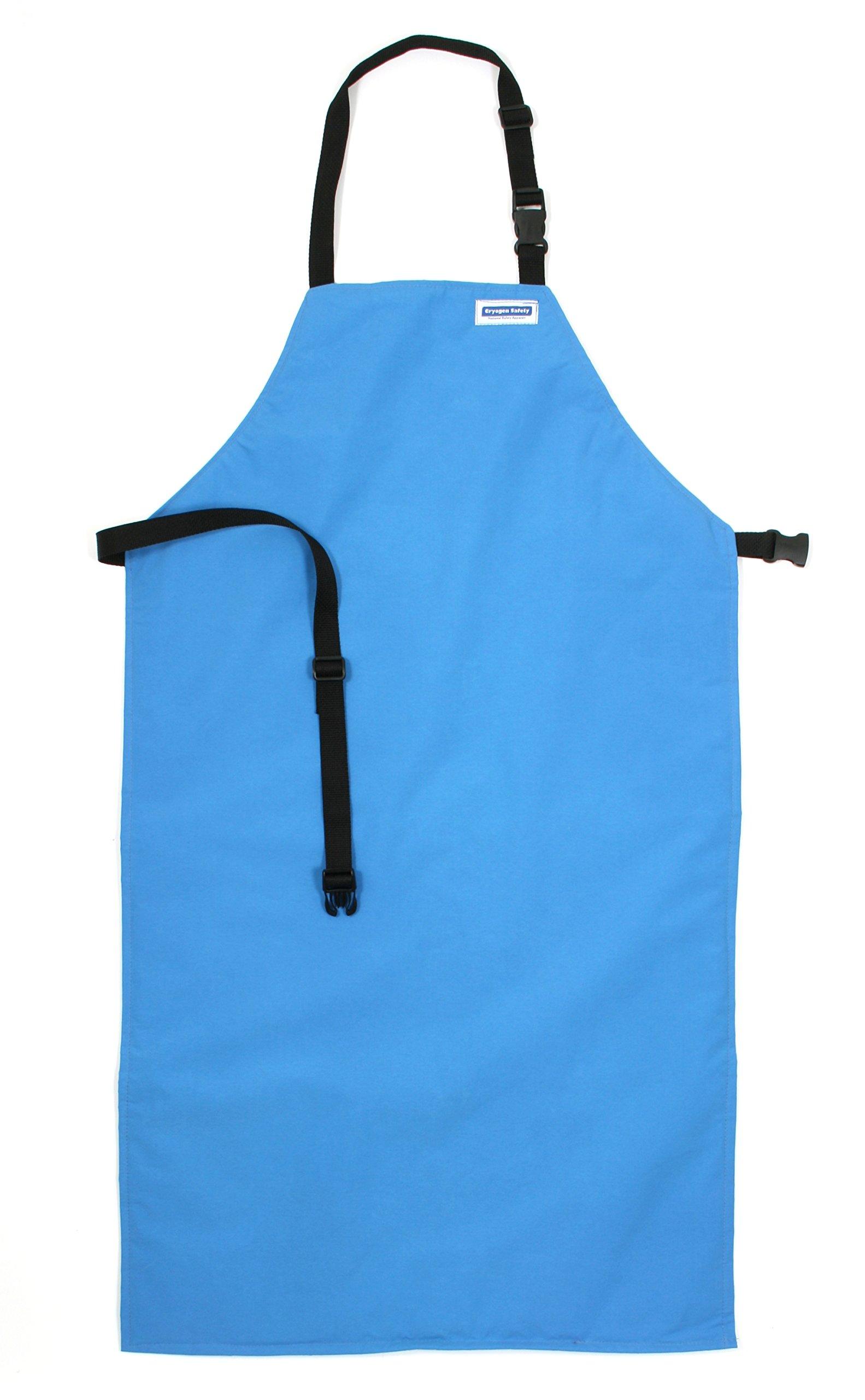 National Safety Apparel A02CRC24X42 Nylon Taslan and PTFE Waterproof Cryogenic Safety Bib Apron, 42'' Length x 24'' Width, Blue