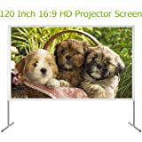 Mileagea 120 Inches 16:9 HD 4K Projector Screen Portable Indoor Outdoor Movie Theater Projection Screen Assembling