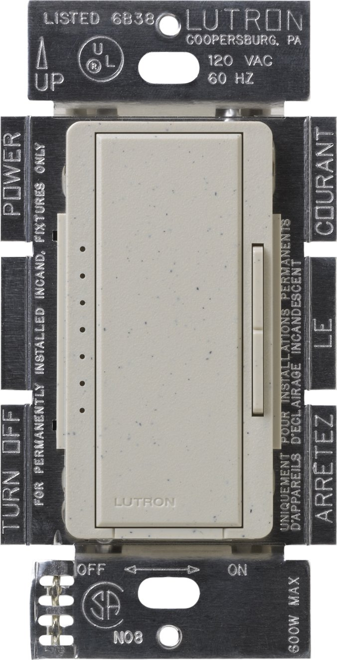 Lutron MSCLV-1000M-ST  Maestro 1000-watt Magnetic Low Voltage Multi-Location Digital Dimmer, Stone by Lutron