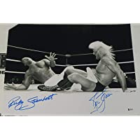 $146 » Ric Flair Ricky Steamboat Signed 16x20 Photo BAS Beckett COA WWE WCW Autograph 1 - Autographed Wrestling Photos