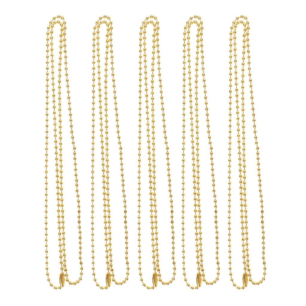 Homyl 5pcs Stainless Steel 26 inch Military Ball Chain (Dog Tags) Necklace Jewelry