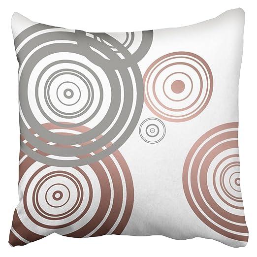 emvency funda de almohada sintética oro rosa gris patrón ...