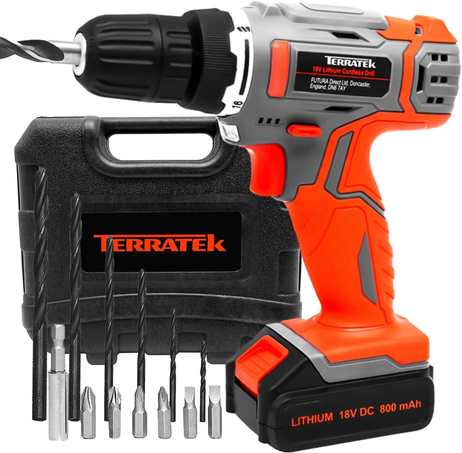Terratek 13pc Cordless Drill Driver