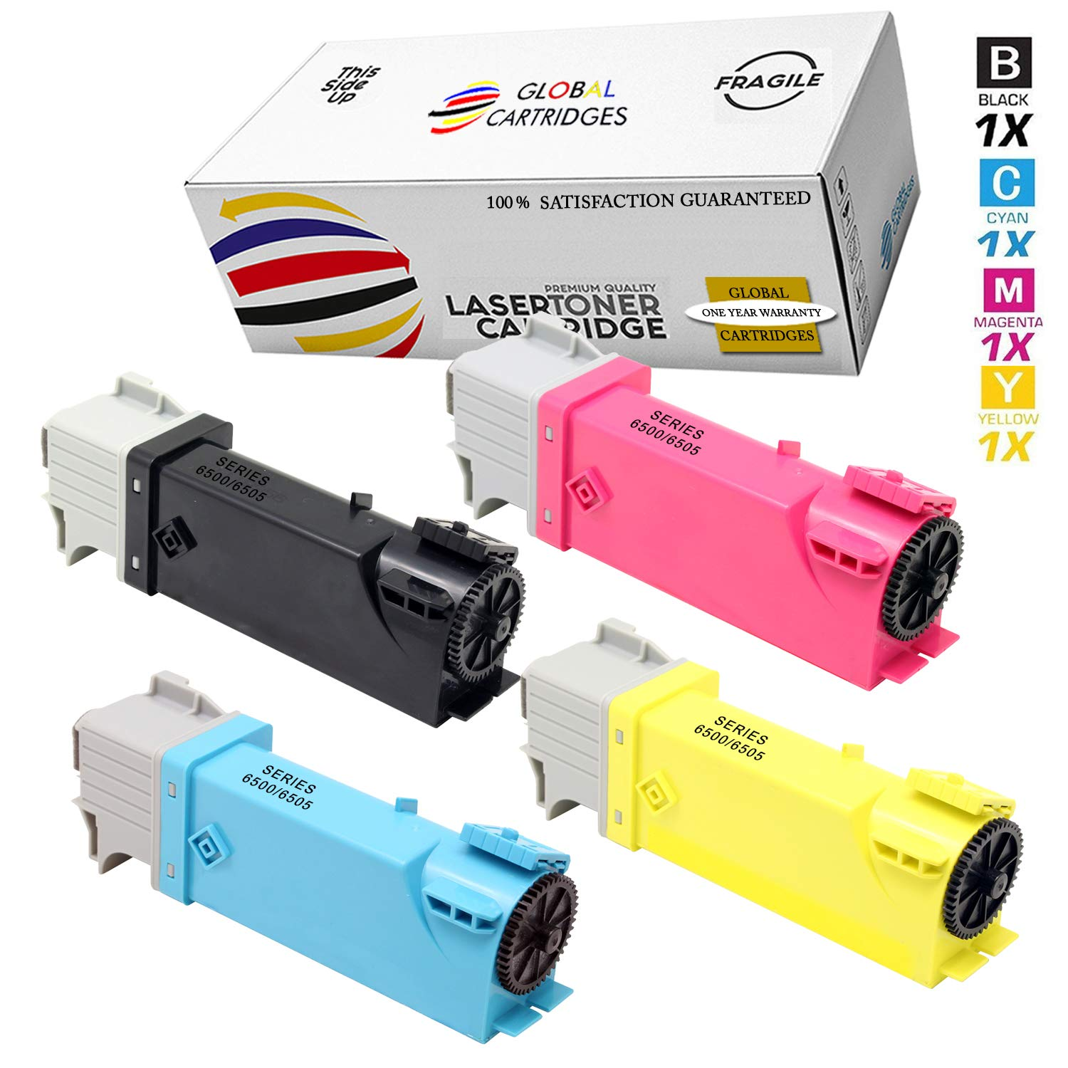 Toner Alternativo ( X4 ) 4 Colores 6500 / 106R01597 106R0...