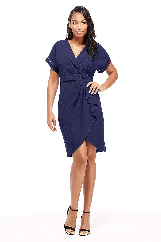 Donna Morgan Womens Sleeveless Eyelet Godet Dress