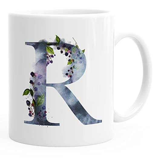 Autiga Buchstaben Tasse R Tasse Mit Buchstabe Alphabet Monogramm