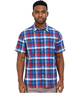 7a64ae6b Vans Men's Off The Wall Averill Woven Plaid Shirt-Red/Blue-Small at ...