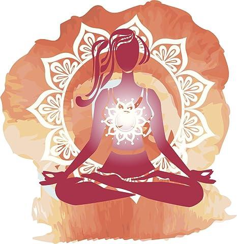 Amazon.com: ohmios Zen Yoga Yogi Espíritu Lotus Pose Mandala ...