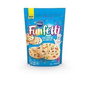 Pillsbury Funfetti Sugar Cookie Mix, 6.5-Ounce (Pack of 12)