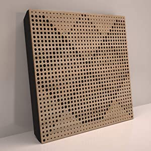 (4 Pack) Sound Absorption-Diffuse Acoustic Panel «Wilds» for rec.studio | Wood laminated: (Sonoma)