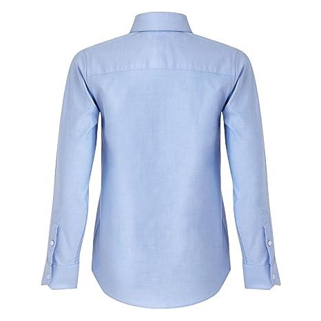 Rjr. John Rocha infantil - niño azul claro Oxford Camisa y Corbata ...