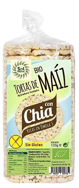 Sol Natural Tortas de Maíz con Chía, sin Gluten - Paquete de ...