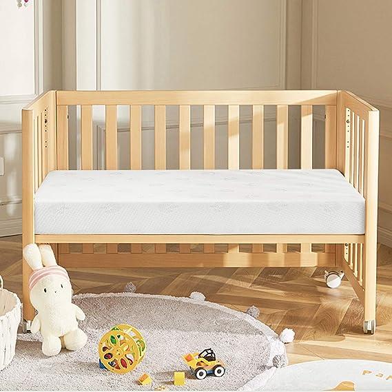 Colchon de cuna Espuma Star Ibaby. Optimo para el sueño del Bebé. Colchón para Cuna de Bebé de 120 x 60 cm.