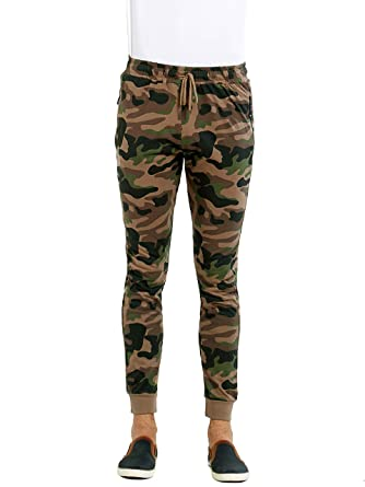 dd4064ee Maniac Men's Slim Fit Camouflage Cotton Joggers Track Pant with Zipper  Pockets: Amazon.in: Clothing & Accessories