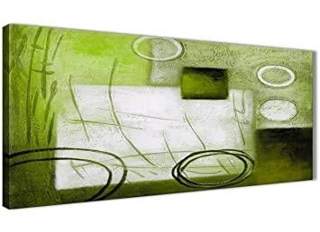 Citron vert Peinture Salon Toile Décoration murale Accessoires – abstrait  1431–120 cm Imprimé Wallfillers