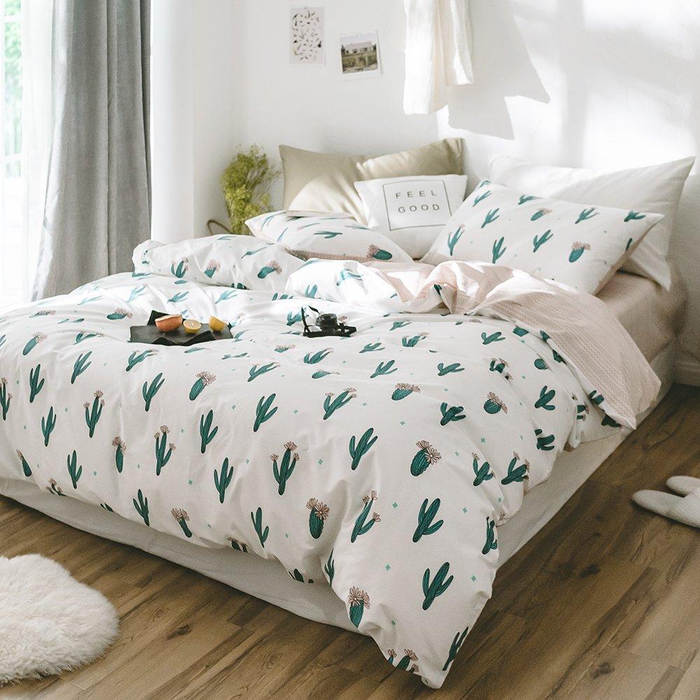 Full Bedding Sets 3 Pc Cactus Print Cotton Duvet Cover