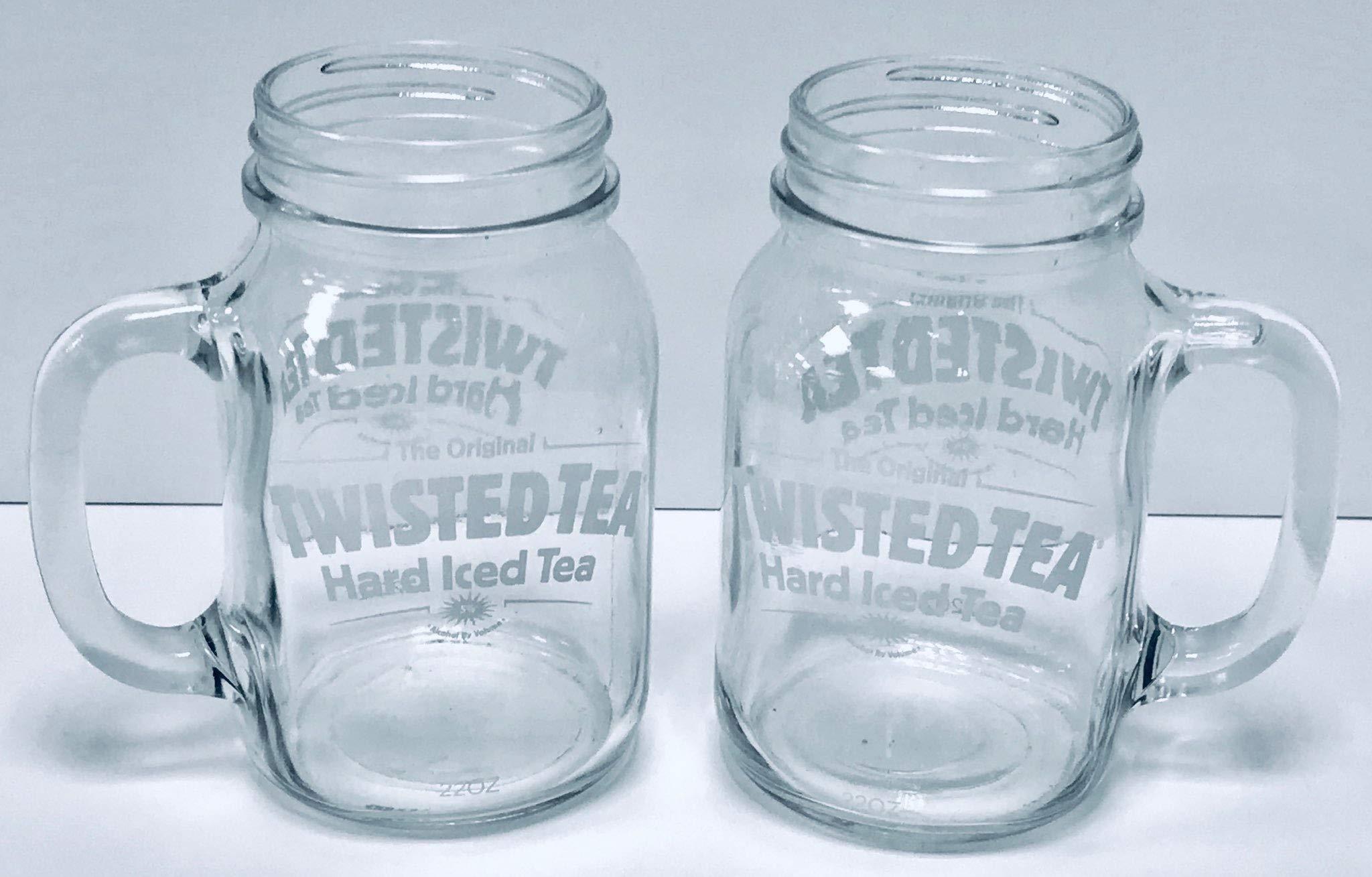 Twisted Tea 22oz Mason Jar Mugs | Set of Two (2)