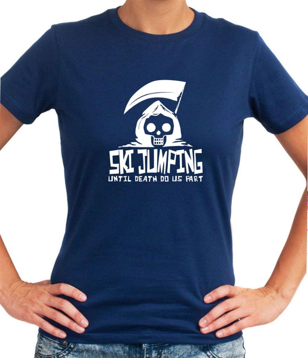Ski Jumping UNTIL DEATH SEPARATE US Dame T-Shirt