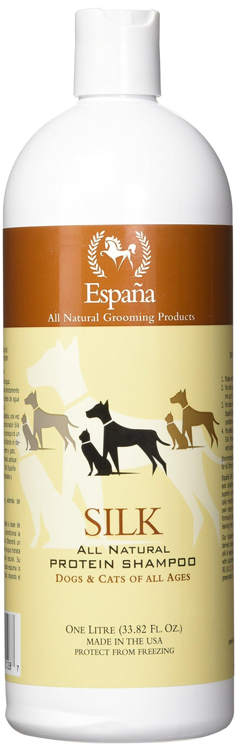 Espana Silk ESP0020DC Specially Formulated Silk Protein Shampoo for Dogs and Cats, 33.82-Ounce by EspanaSILK