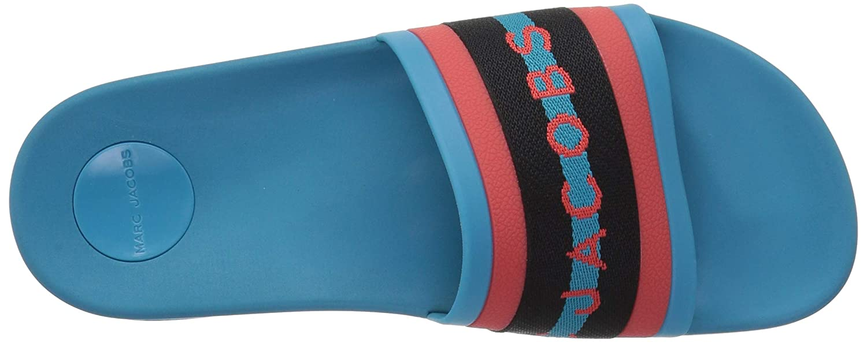 bf82d13734151a Marc Jacobs Women s Cooper Webbing Aqua Slide Sandal  Amazon.co.uk  Shoes    Bags