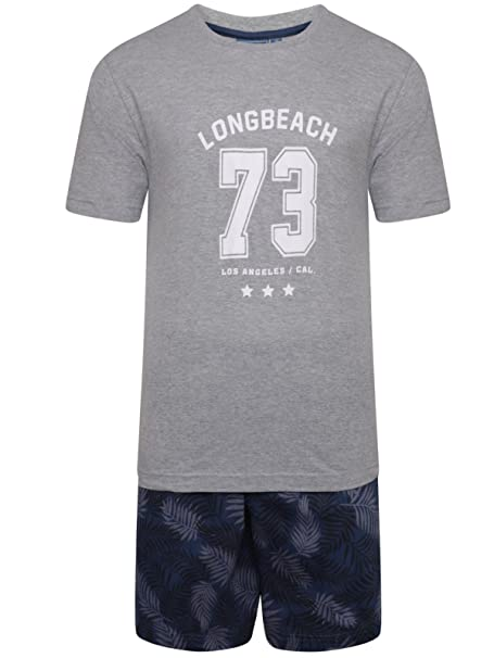 Top Hombre & Corto Conjunto Pijama camiseta Pjs Top Algodón De Jersey Set M L XL XXL