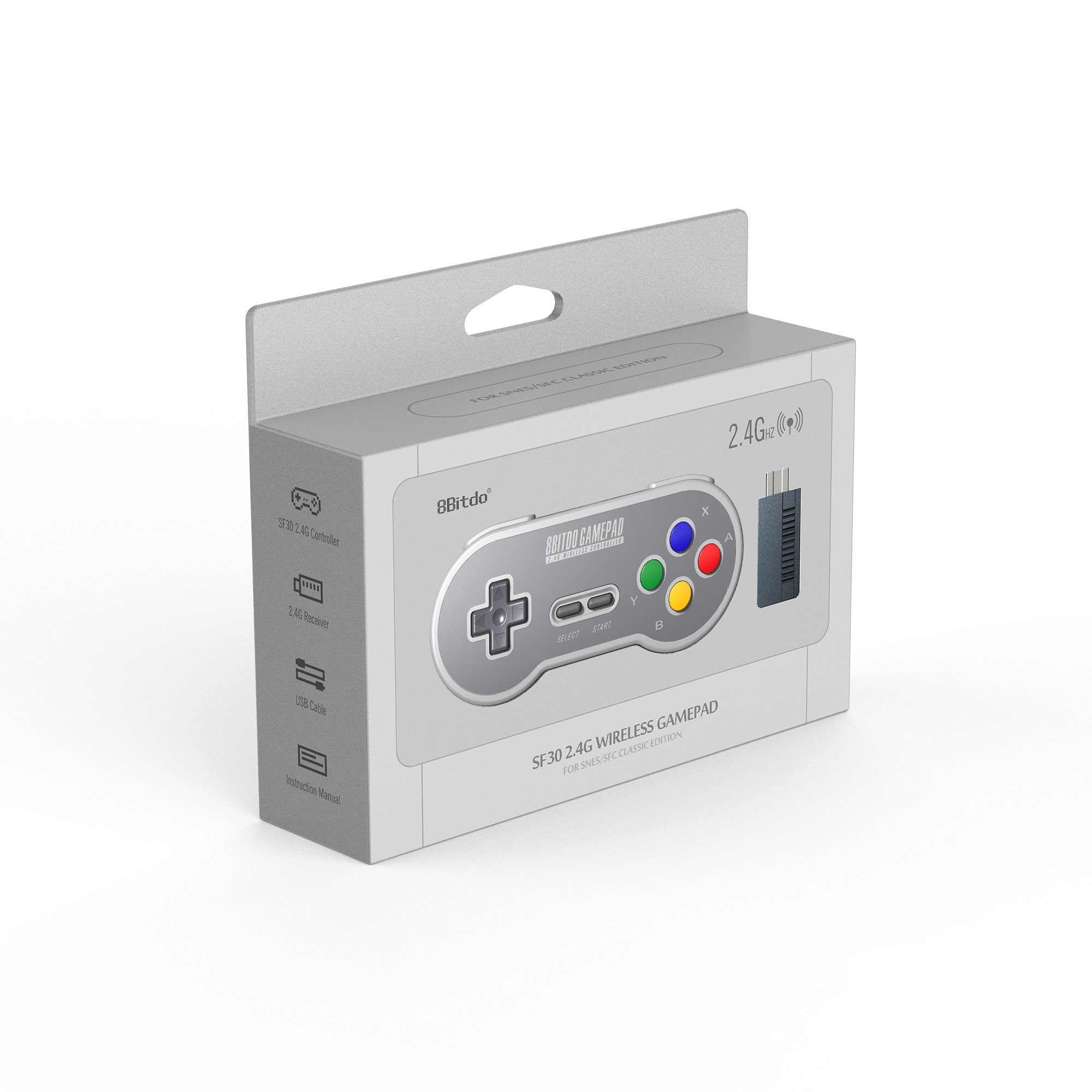 8Bitdo SF30 2.4G Wireless Controller for SFC Classic Edition by 8Bitdo (Image #3)