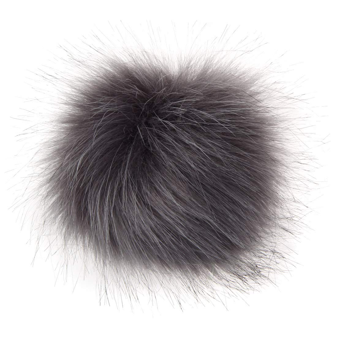 DIY 12 pcs Faux Fox Fur Fluffy Pompom Ball with Elastic Cord for Hats Beanies Shoes Scarves Bag Charms Accessories 4 inch A-Multi