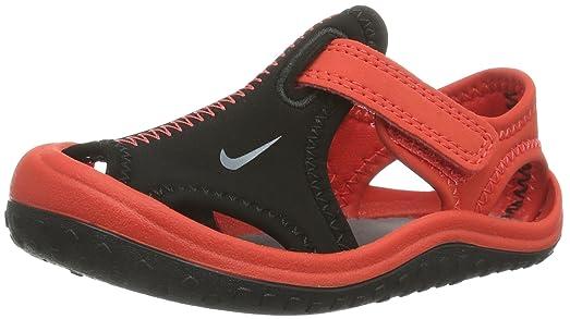 Nike Kids Baby Boy's Sunray Protect (Infant/Toddler) Black/Light Crimson/