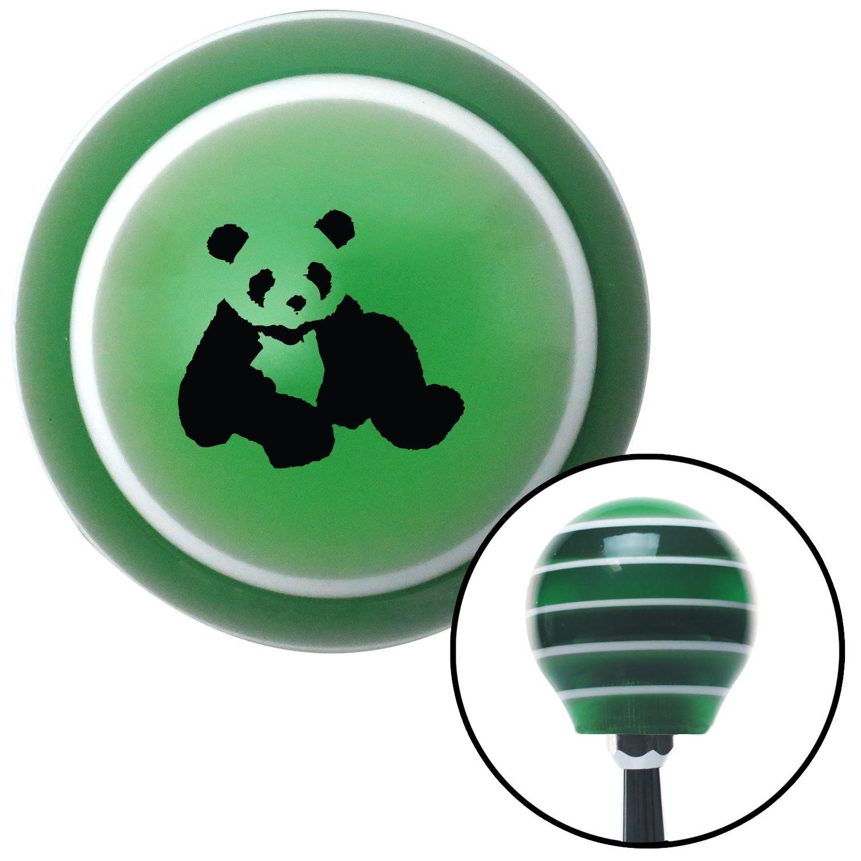 Black Panda Bear American Shifter 121021 Green Stripe Shift Knob with M16 x 1.5 Insert