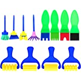 12 Pieces Sponge Painting Brushes Stamp Flower Drawing Brush Set for Kids Learning Art Craft DIY