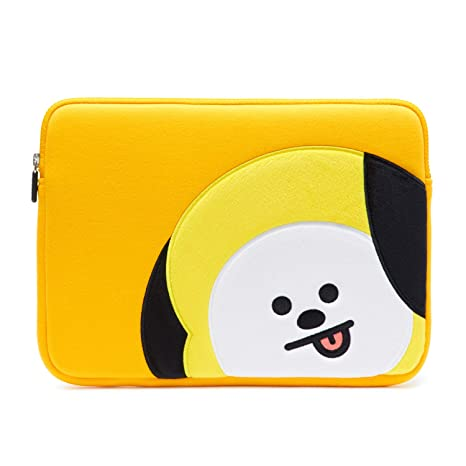separation shoes 86c3c 2527b BT21 Official Merchandise by Line Friends - CHIMMY 13 Inch Laptop Sleeve  Case Compatible with MacBook, iPad Pro, and 13