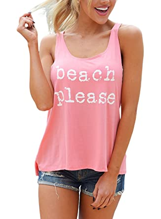 04685d2866e6f AlvaQ Womens Summer Sexy Work Raceback Tank Top and Blouse Plus Size T  Shirts XX-Large Pink at Amazon Women s Clothing store